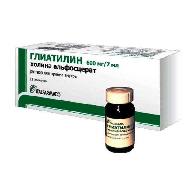 Глиатилин раствор для внутреннего применения 600мг/7мл 7мл №10 купить в Москве по цене от 695 рублей