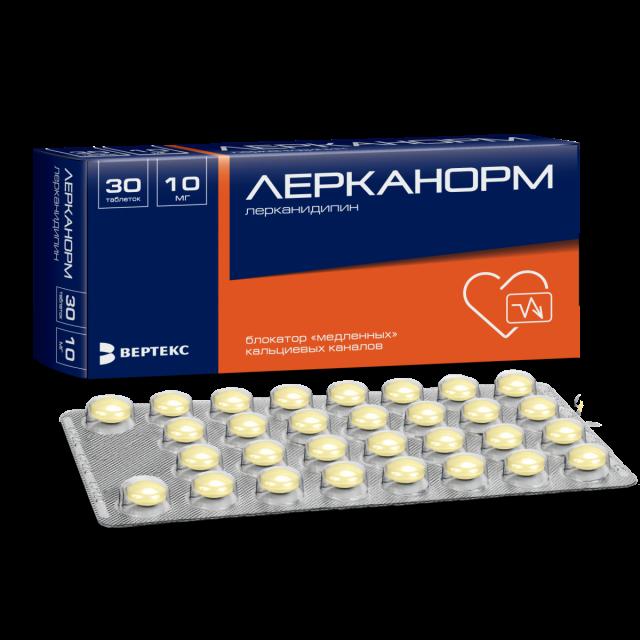 Лерканорм таблетки п.о 10мг №30 купить в Москве по цене от 292 рублей