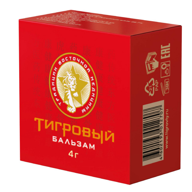Тигровый бальзам д/наружн. применения 4г купить в Москве по цене от 121 рублей