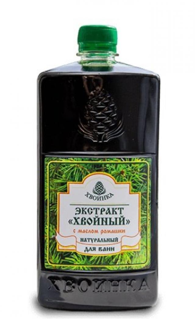 Хвойный экстракт Хвоинка для ванн ромашка 1л купить в Москве по цене от 0 рублей