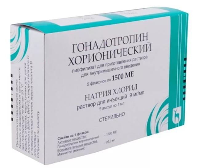 Гонадотропин ХГЧ лиофилизат для приготовления раствора внутримышечно 1500 ЕД №5 купить в Москве по цене от 1131.5 рублей