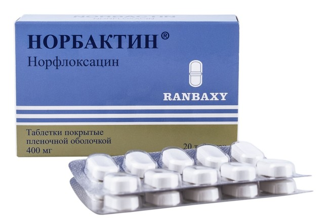 Норбактин таблетки п.о 400мг №20 купить в Москве по цене от 367 рублей