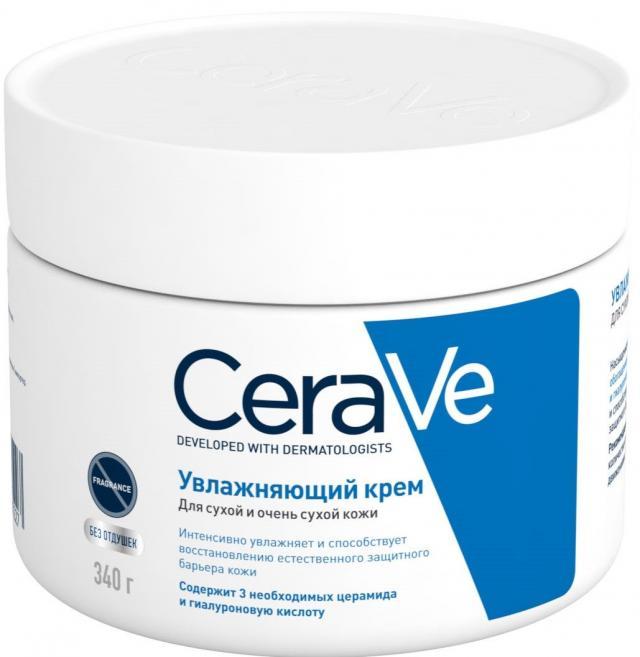 ЦераВе крем для лица и тела увлажняющий для сухой и очень сухой кожи 340мл купить в Москве по цене от 825 рублей