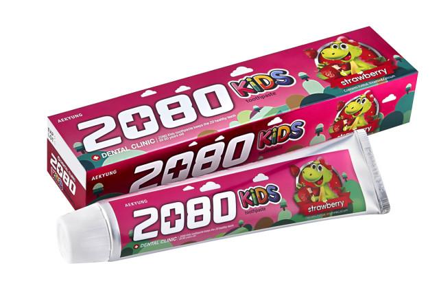 Дентал Клиник 2080 зубная паста для детей клубника 80г купить в Москве по цене от 99 рублей