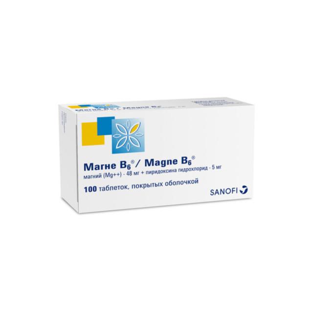 Магне B6 таблетки п.о №100 купить в Москве по цене от 798 рублей