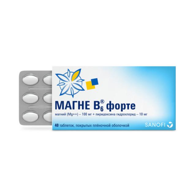 Магне B6 форте таблетки п.о №40 купить в Москве по цене от 602 рублей