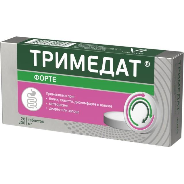 Тримедат форте таблетки пролонгированные 300мг №20 купить в Москве по цене от 669 рублей