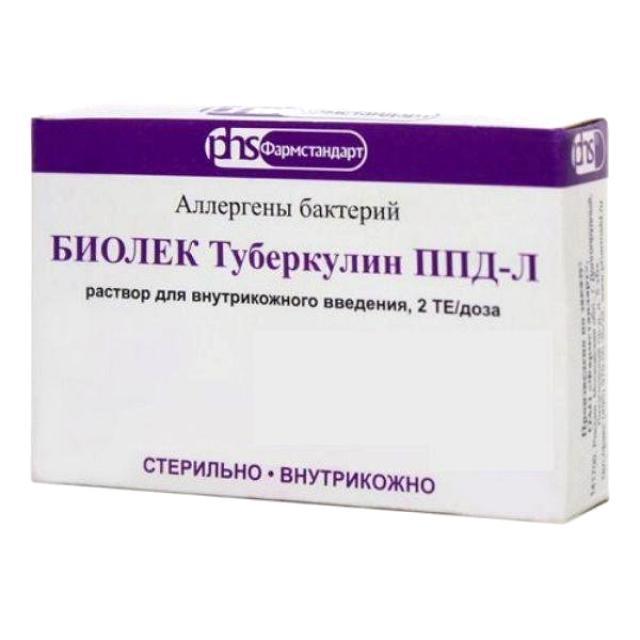 Биолек туберкулин ППД-Л 2ТЕ/0,1мл 1мл №10 купить в Москве по цене от 0 рублей