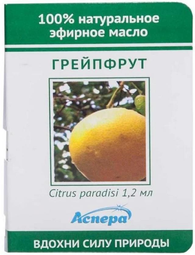 Аспера масло эф. грейпфрут 1,2мл купить в Москве по цене от 0 рублей