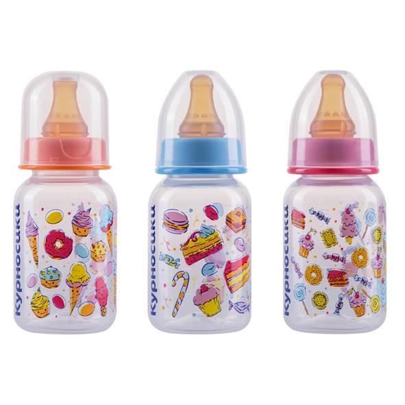 Курносики бутылочка 125мл+соска силикон 11102 купить в Москве по цене от 126 рублей