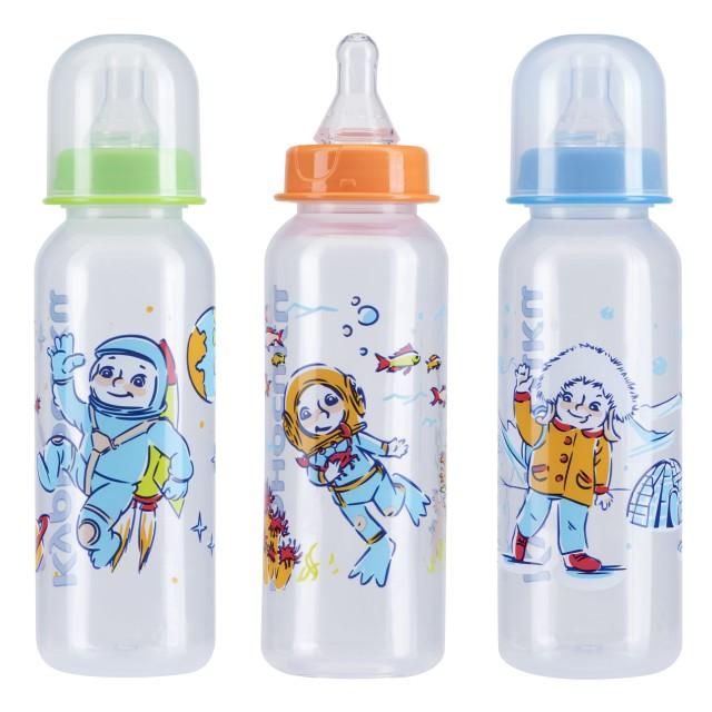 Курносики бутылочка 250мл+соска силикон 11101 купить в Москве по цене от 140 рублей