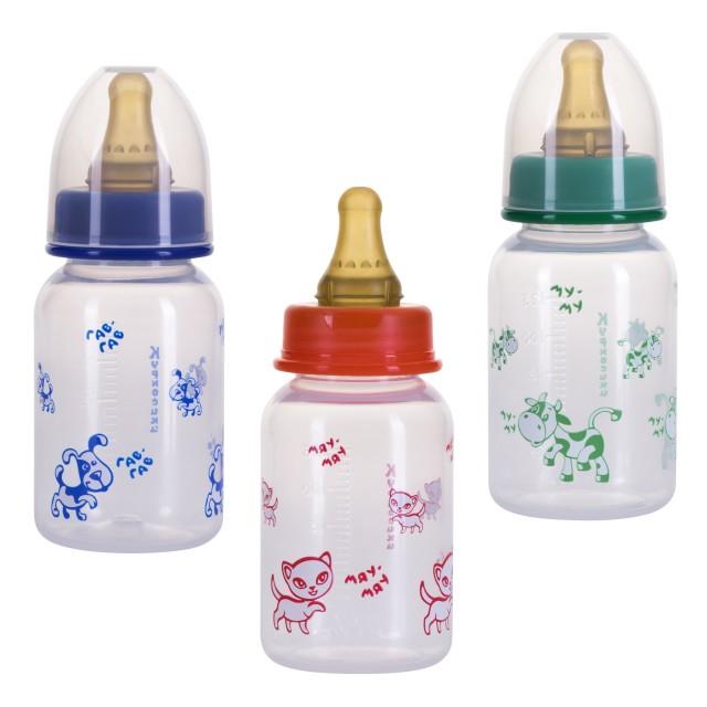 Курносики бутылочка 125мл+соска латекс 11085 купить в Москве по цене от 130 рублей