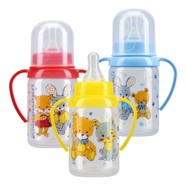 Курносики бутылочка с ручками 125мл+соска силикон 11000 купить в Москве по цене от 158 рублей