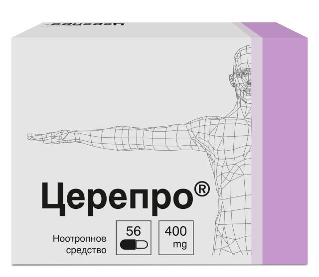 Церепро капсулы 400мг №56 купить в Москве по цене от 0 рублей