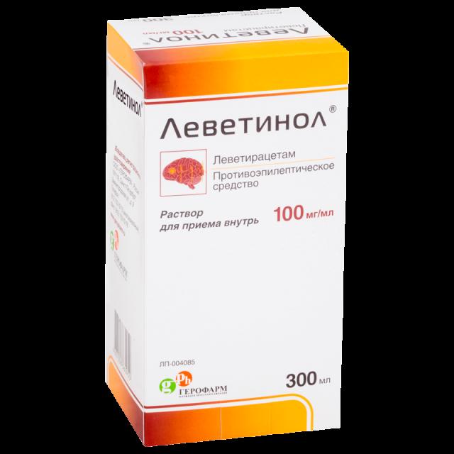 Леветинол раствор для внутреннего применения 100мг/мл 300мл купить в Москве по цене от 1905.5 рублей
