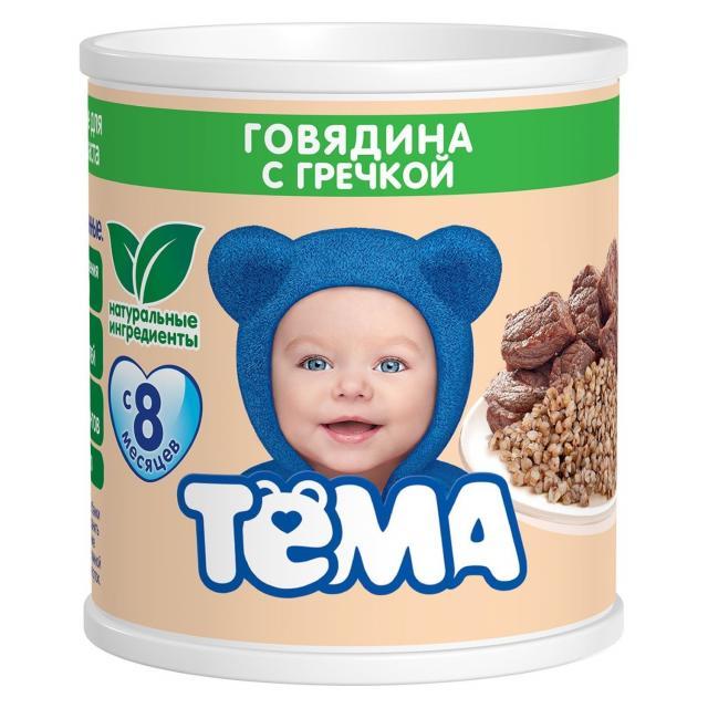 Тема пюре говядина/греча 100г купить в Москве по цене от 0 рублей