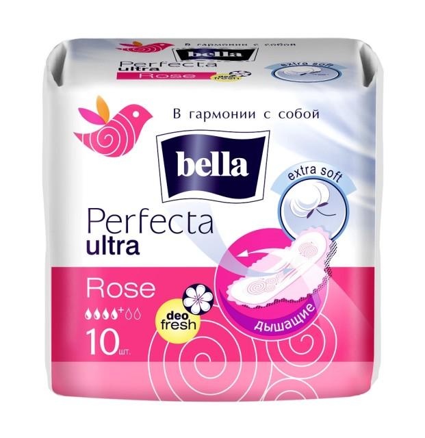 Белла прокладки гигиенические перфекта ультра розовые №10 купить в Москве по цене от 110 рублей