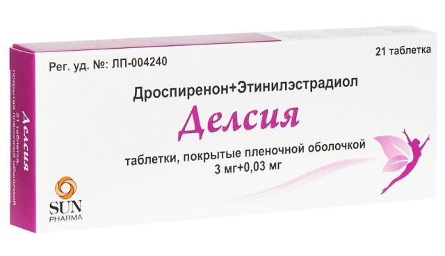 Делсия таблетки п.о. 3мг+0,03мг №21 купить в Москве по цене от 588 рублей