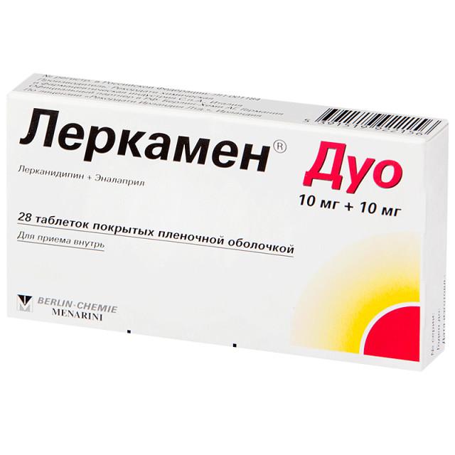 Леркамен Дуо таблетки п.о. 10мг + 10мг №28 купить в Москве по цене от 488 рублей