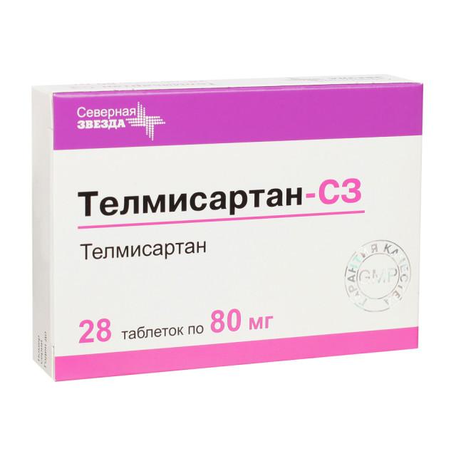Телмисартан-СЗ таблетки 80мг №28 купить в Москве по цене от 279 рублей