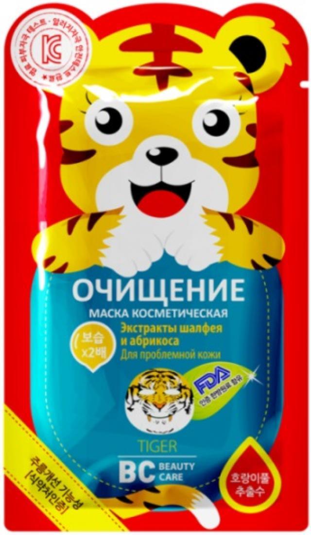 БиСи маска для лица Тигр ткан.очищ. 25мл купить в Москве по цене от 170 рублей