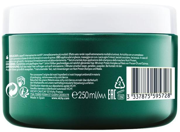 Виши Деркос Нутриенс Нутри Протеин маска для волос 250мл купить в Москве по цене от 1420 рублей