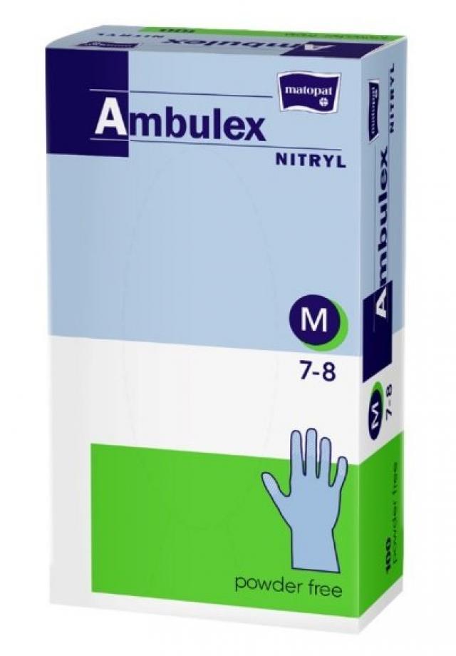 Перчатки не стерильные смотр. нитрил Ambulex Nitry (M) шт №100 купить в Москве по цене от 693 рублей