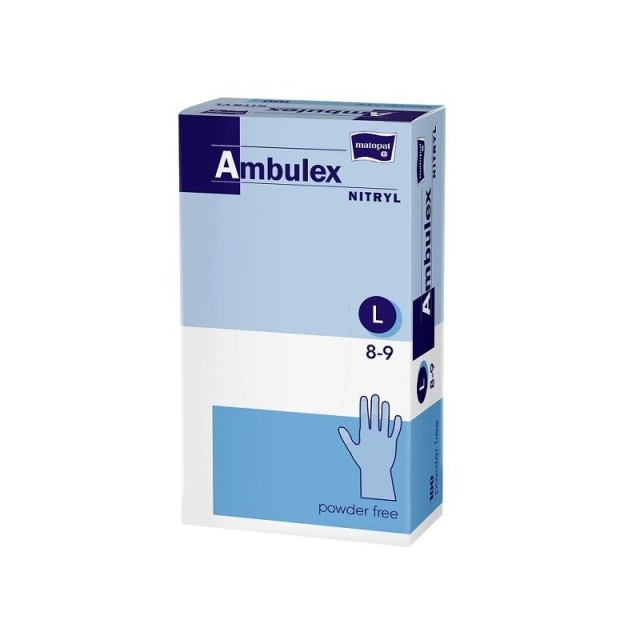 Перчатки не стерильные смотр. нитрил Ambulex Nitry (L) шт №100 купить в Москве по цене от 700 рублей