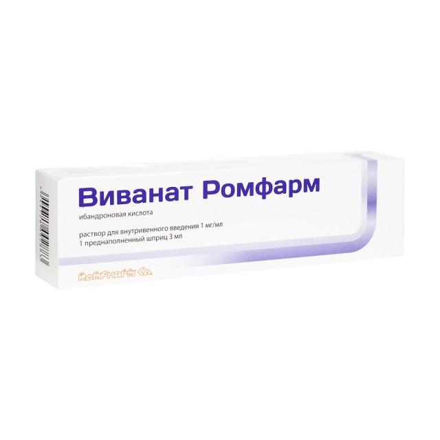 Виванат раствор для инъекций 1мг/мл 3мл №1 купить в Москве по цене от 4100 рублей