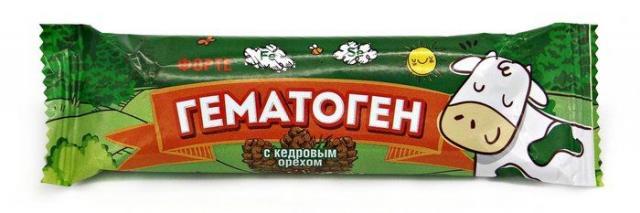 Гематоген Форте с кедровым орехом 40г купить в Москве по цене от 43 рублей