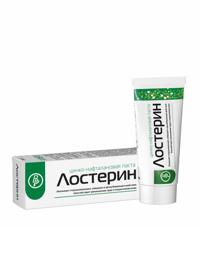 Лостерин паста цинко-нафталановая 50мл купить в Москве по цене от 519 рублей