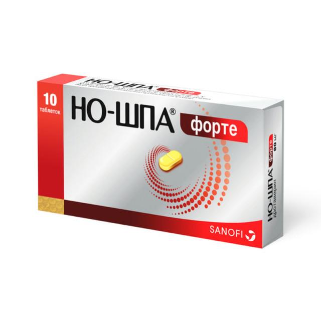 Но-шпа форте таблетки 80мг №10 купить в Москве по цене от 63.5 рублей