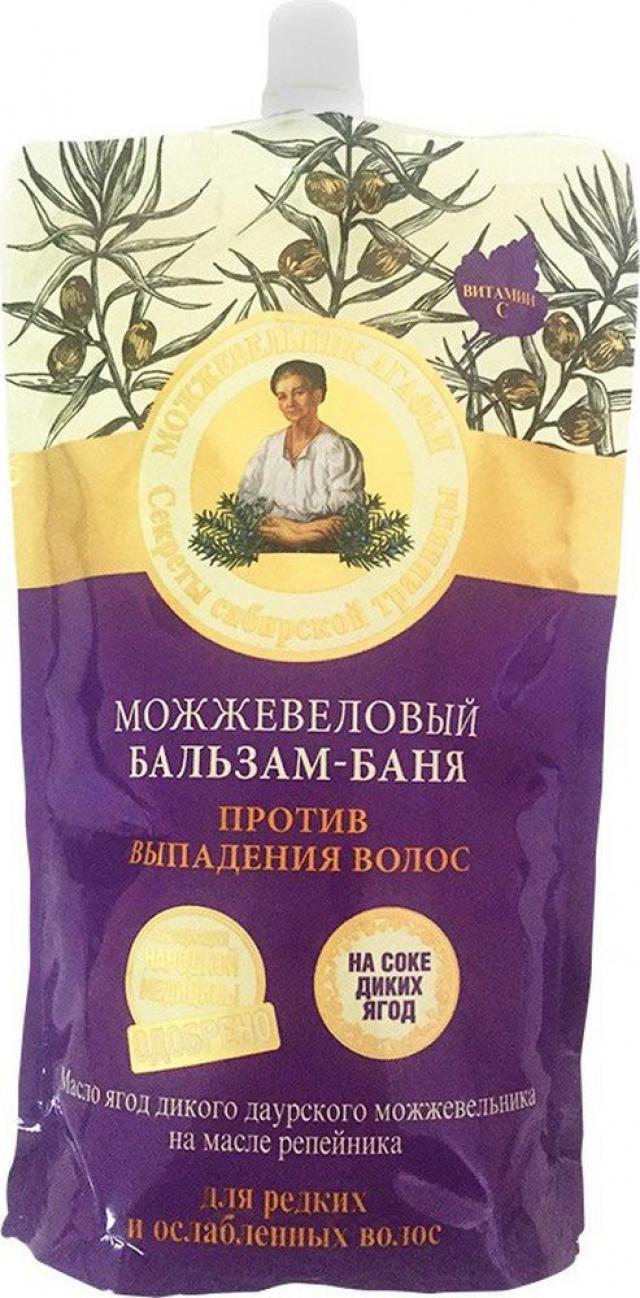 Рецепты Бабушки Агафьи бальзам-баня для волос можжевельник 500мл купить в Москве по цене от 0 рублей