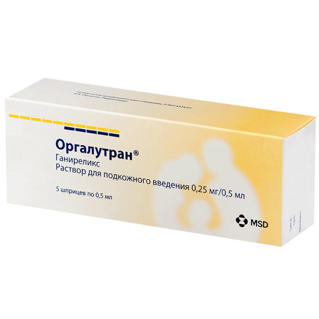 Оргалутран раствор для подкожного введения 0,25мг/0,5млшприц 0,5мл №5 купить в Москве по цене от 5932.5 рублей