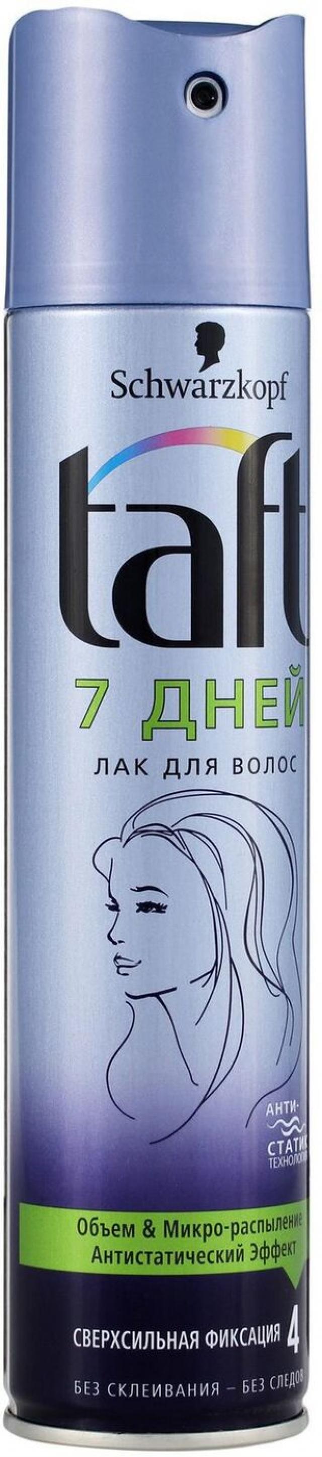 Тафт лак для волос 7дней сверхсил. фикс. 225мл купить в Москве по цене от 0 рублей