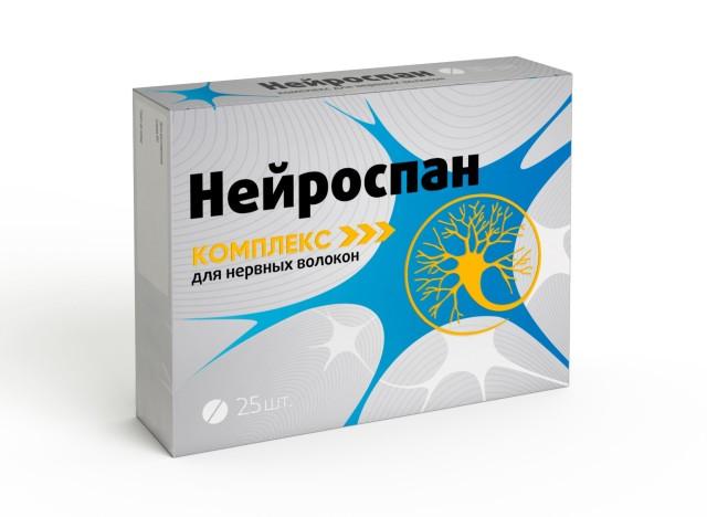 Нейроспан комплекс для нервных волокон таблетки п.о 190мг №25 купить в Москве по цене от 468 рублей
