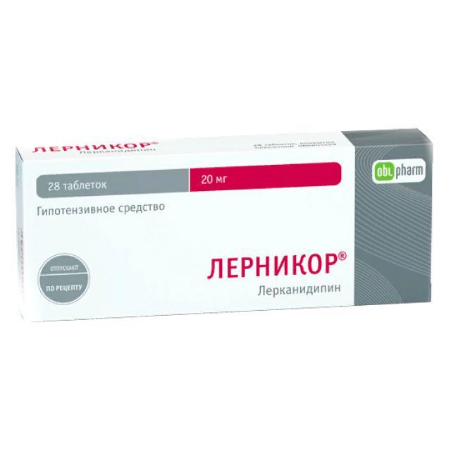 Лерникор таблетки п.о 20мг №28 купить в Москве по цене от 386 рублей