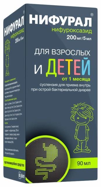 Нифурал суспензия внутрь 200мг/5мл 90мл купить в Москве по цене от 289 рублей