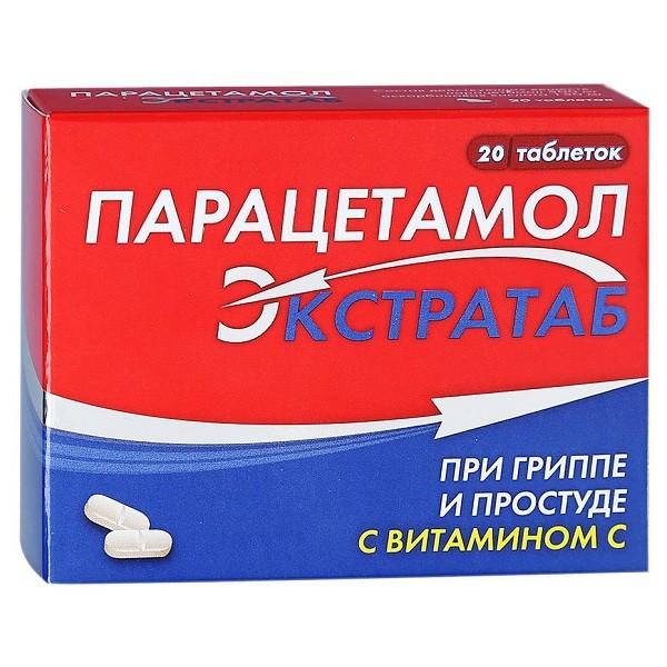 Парацетамол Экстратаб таблетки №20 купить в Москве по цене от 110 рублей