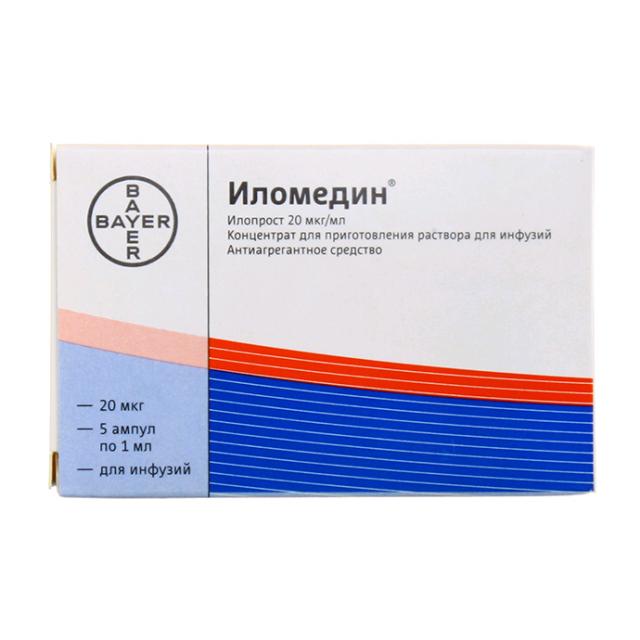 Иломедин концентрат для инфузий 20мкг/мл 1мл №5 купить в Москве по цене от 0 рублей