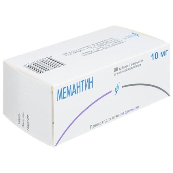 Мемантин Изварино таблетки п.о 10мг №90 купить в Москве по цене от 1960.5 рублей