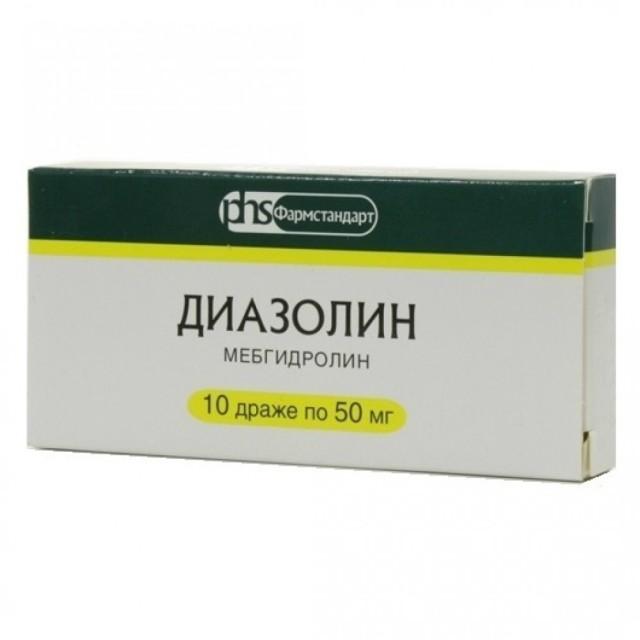 Диазолин ФСТ др. 50мг №10 купить в Москве по цене от 19 рублей