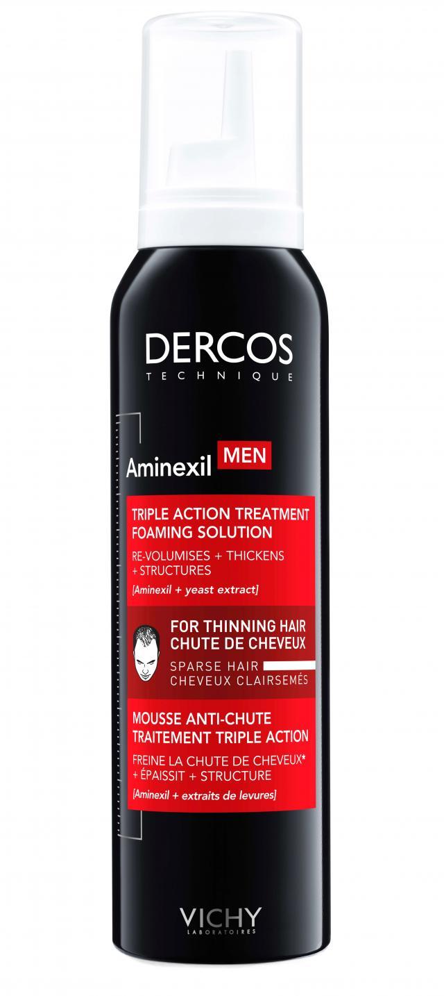 Виши Аминексил Мен пена для волос против выпадения волос 150мл купить в Москве по цене от 2120 рублей