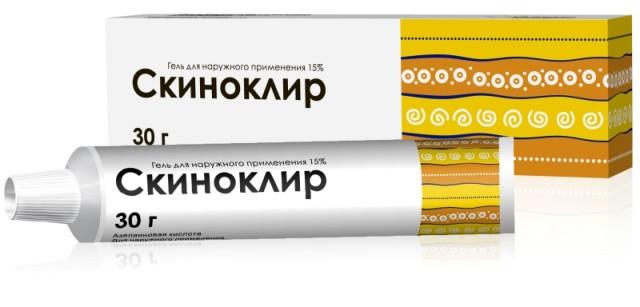 Скиноклир гель 15% 30г купить в Москве по цене от 580 рублей