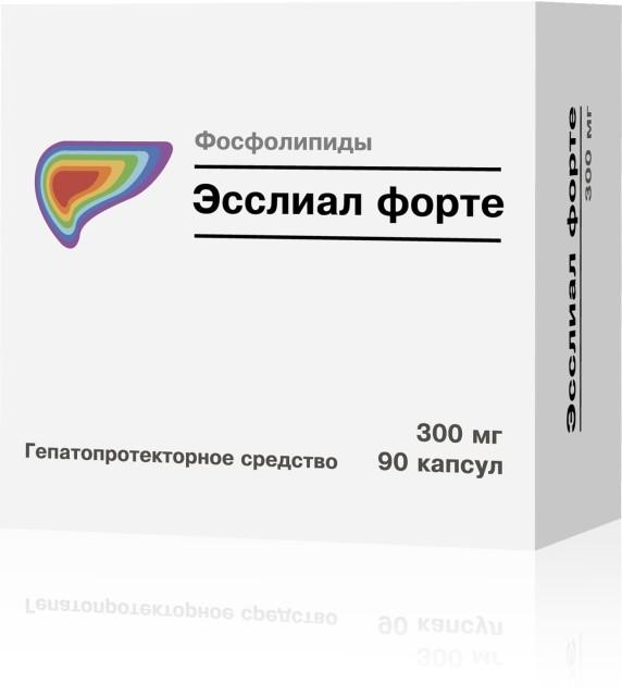 Эсслиал форте капсулы 300мг №90 купить в Москве по цене от 1110 рублей