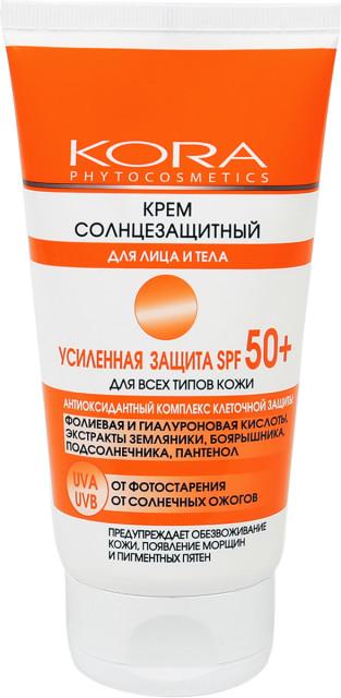 Кора крем солнцезащитный для лица и тела SPF50+ 150мл 45918 купить в Москве по цене от 582 рублей