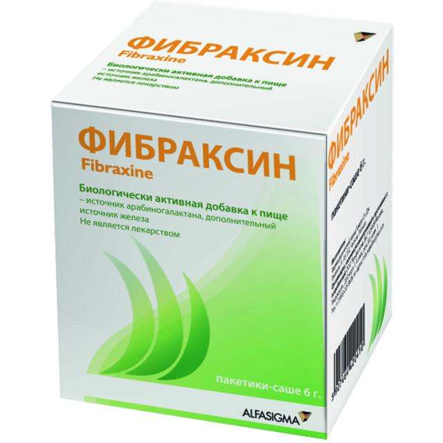 Фибраксин порошок для приготовления раствора внутрь саше 6г №15 купить в Москве по цене от 1000 рублей