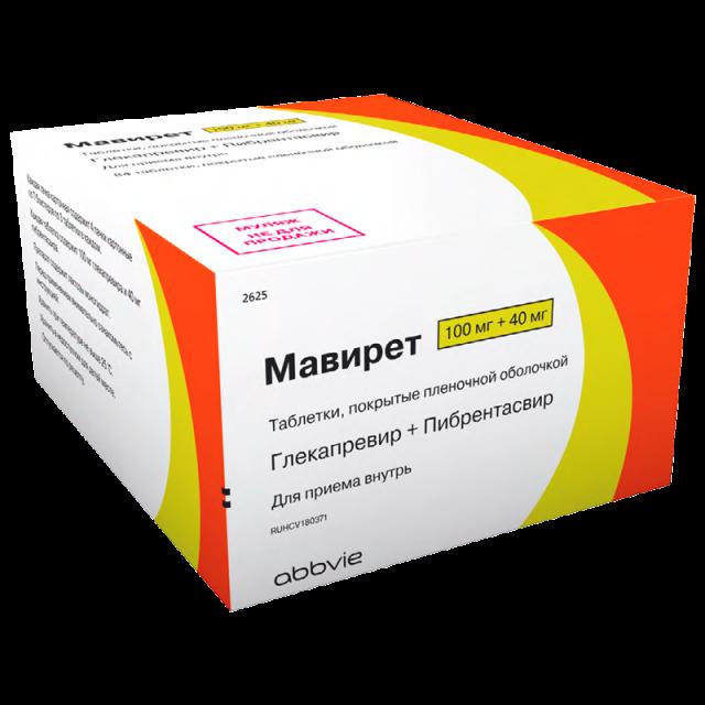 Мавирет таблетки п.о 100мг+40мг №84 купить в Москве по цене от 0 рублей