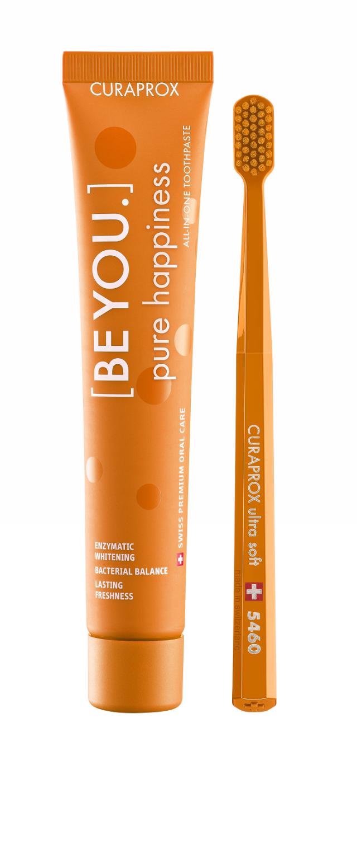 Курапрокс набор зубная паста персик/абрикос 90мл+з/щетка Ультрасофт Be You Orange set купить в Москве по цене от 0 рублей