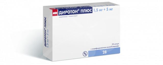 Диротон Плюс капсулы 1,5мг+5мг №28 купить в Москве по цене от 219 рублей